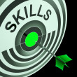 Skills Shows Skilled, Expertise, Professional Abilities — Foto Stock