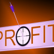 Stock Photo: Profit Shows Financial Investment Success