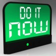 Stock Photo: Do It Now Clock Showing Urgency For Action