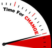 Time For Change Representing Different Strategy Or Varying — Stock Photo