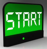 Start Button On Clock Shows Beginning Or Activating — Stock Photo
