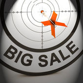 Big Sale Shows Promotion Offers Reductions And Savings — Stock Photo