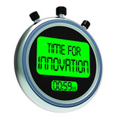Time For Innovation Meaning Creative Development And Ingenuity — Foto Stock