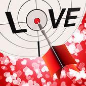 Liebe zeigt hingabe zwischen liebhaber und paare — Stockfoto
