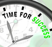 Time For Success Message Shows Victory And Winning — Stock Photo