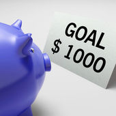 Goals Dollars Shows Aim Target And Plan — Stock Photo