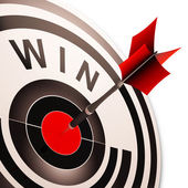 Win Target Shows Successes And Victory — Stock Photo