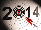 2014 Projection Target Shows Successful Future — Stock Photo