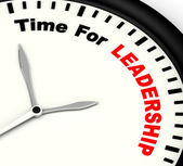 Time For Leadership Message Meaning Management And Achievement — Foto de Stock