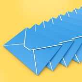 Envelopes Shows E-mail Symbol Contacting Sending Inbox — Stock Photo