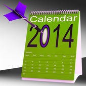 Calendrier 2014 montre cible futur plan — Photo
