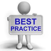 Best Practice Sign Showing Most Efficient Procedures — Stock Photo