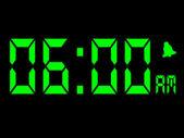 рано утром сигнализации вызова в шесть утра — Стоковое фото