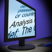 Analysis On Monitor Shows Verification — Stock Photo