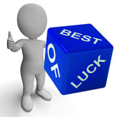 Best Of Luck Dice Represents Gambling And Fortune — Stock Photo