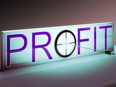 Profit Target Shows Market And Trade Income — Stock Photo