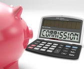 Commission Calculator Shows Bonus, Benefit Or Award — Stock Photo