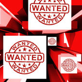 Wanted On Cubes Shows Needed — Foto Stock