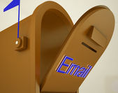 Opened Email Box Showing Electronic Mails — Stock Photo
