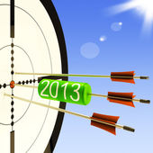2013 Target Shows Business Plan Forecast — Stock Photo