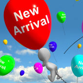 New Arrival Balloons Showing Latest Products Collection — Stock Photo