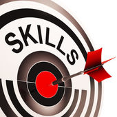 Skills Target Shows Aptitude, Competence And Abilities — Stock Photo
