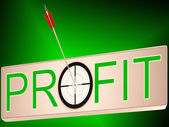 Profit Shows Earning Revenue And Business Growth — Stock Photo