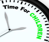 Time For Children Message Meaning Playtime Or Getting Pregnant — Stock Photo