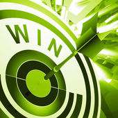 Win Target Means Successes And Victory — Stock Photo