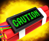 Caution Dynamite Sign Meaning Danger Or Warning — 图库照片