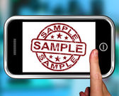 Sample On Smartphone Shows Examples — Stock Photo