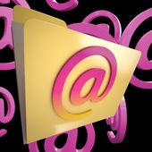 Pasta de email mostra internet arquivos de mensagem classificada — Foto Stock