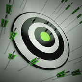 Off Target Shows To Miscalculate Skill — Stock Photo