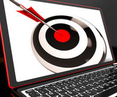 Dartboard On Laptop Shows Effectiveness — Stock Photo