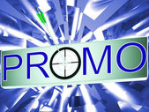 Promo Shows Promotion Discount Sale — Stock Photo