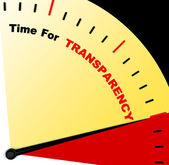 Time For Transparency Message Means Ethics And Fairness — Stock Photo