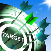 Target On Dartboard Showing Successful Shooting — Stock Photo