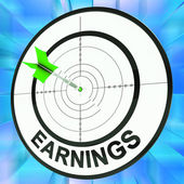 Earnings Shows Vocation, Occupation, Employment And Profession — Stock Photo