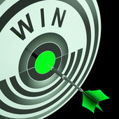 Win Target Means Triumphant Champion Success — Stock Photo
