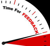 Time For feedback Representing Opinion Evaluation And Surveys — Stock Photo