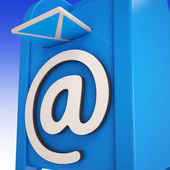 Email On Email box Showing Delivered Mails — Stock Photo