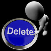 Delete Button For Erasing Or Deleting Trash — Stock Photo