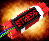 Stress On Dynamite Showing Pressure Of Work — Stock Photo