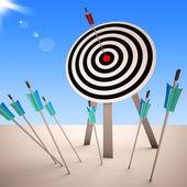 Arrow On Dartboard Showing Successful Shot — Stock Photo