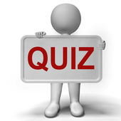Quiz Sign Meaning Test Exam Or Examination — Stock Photo