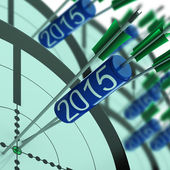 2015 Target Shows Year Projected Profit Growth — Stock Photo