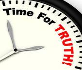 Temps pour le message de vérité montrant honnête et vrai — Photo