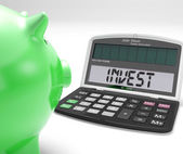 Invest Calculator Shows Investing In Market Stocks — Stock Photo