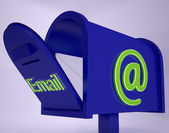 Mail On Email box Shows Received Emails — Stock Photo