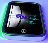 2013 Arrows On Smartphone Showing Future Goals — Stock Photo